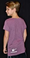 T-shirt Weinrot